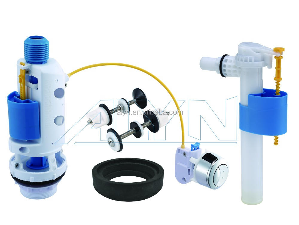 wc dual flush cistern repair accessories kits silent toilet side fill valve