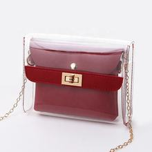 PVC Transparent Shoulder Crossbody PU Bags Lady Small Messenger bag