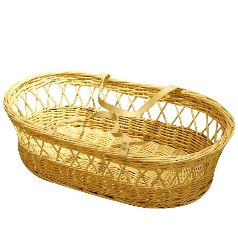 Экологичная пользовательская плетеная корзина для малышей