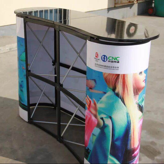 Pop Up Stand With Custom Printing/Trade Fair Tension Fabric Display Rack