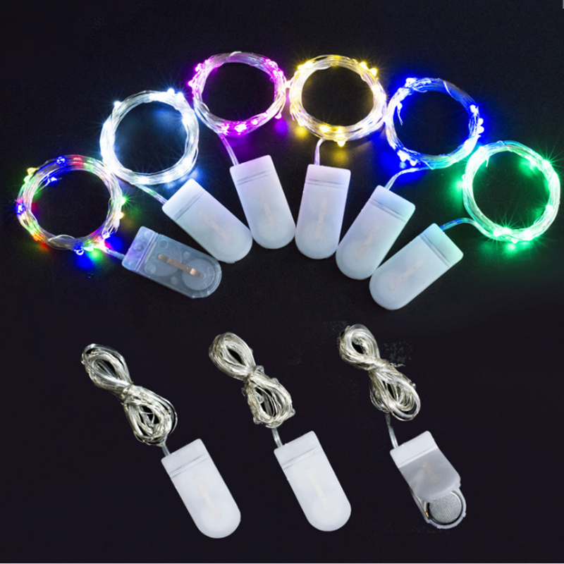 Battery Powered Christmas 2M 20 Led light string Customized Led Silver Copper Wire Led Party Lights Factory