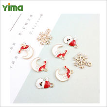 New product ideas 2021 wholesale cheap sliver small zinc alloy christmas pendants charms set christmas tree keychain