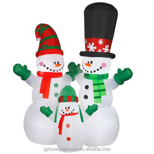 High Quality advertising figures inflatable Christmas tree and santa claus inflatable couple Christmas Snowmans for sale