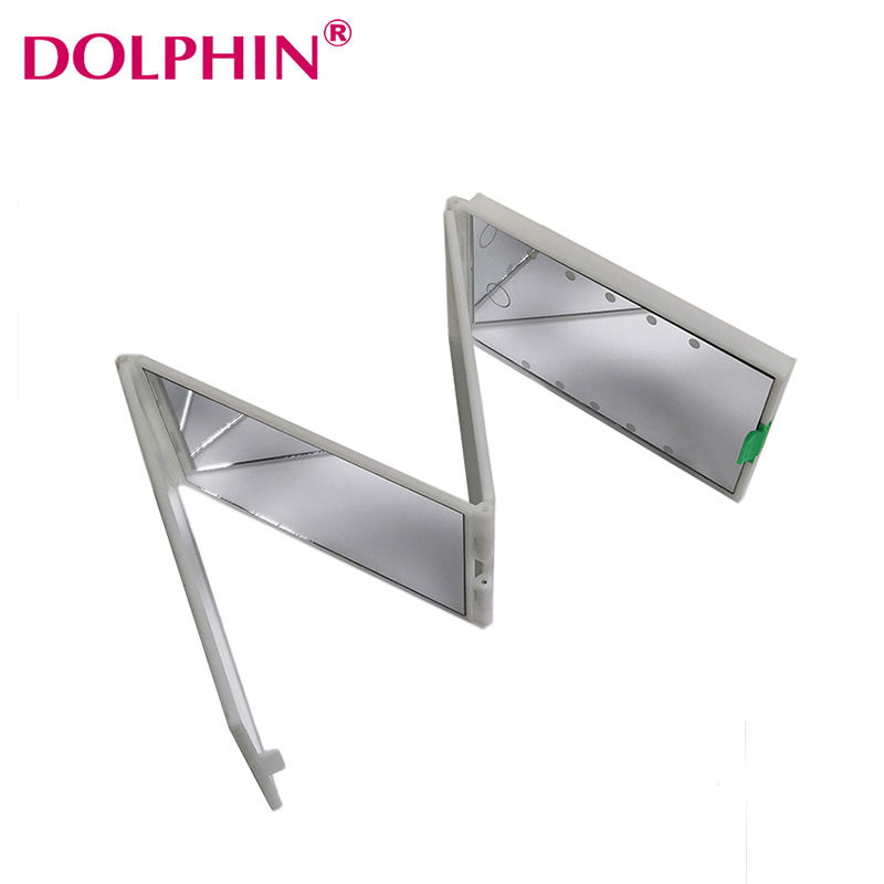 13.2*7*2CM Design beauty haircut hairdressing four folding 4 way Barber mirrors cosmetic led vanity flexible hand mirror