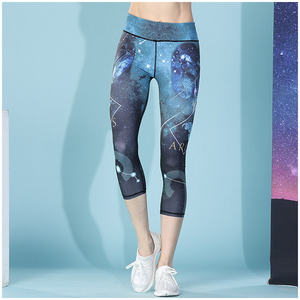 Low Moq Sublim Print 12 Constellations Collants Unique Printed Yoga Fitness Pants Apparel