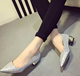 Spring/summer popular women shoes bling shiny pointed toe sexy ladies fashion shoes mid heel women shoes