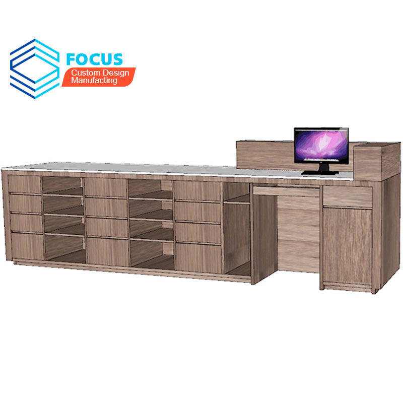 Reception Desk Modern Dental Hospital High Quality Pharmacy Cash Counter Design Retail Furniture
