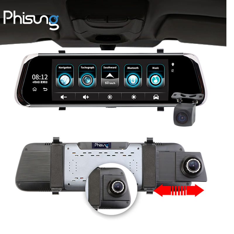 "Phisung E08 10 ""IPS Màn Hình Cảm Ứng <span class=keywords><strong>Video</strong></span> Recorder Android GPS Car Camera Với 4 Gam WIFI FM <span class=keywords><strong>Video</strong></span> Registrator Xe Dvr Dash Camera Xe"