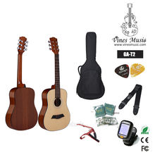 Wholesale GA-T2 spruce top kids guitar for travel guitar made in china