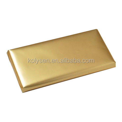 Personalized food grade glitter gold Candy Bar Wrapper aluminum foil paper China supplier
