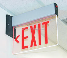 Luxury Design Clear Square EXIT Sign Acrylic Room Sign