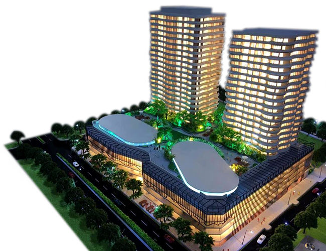 high rise commercial plaza building architectural model for sale