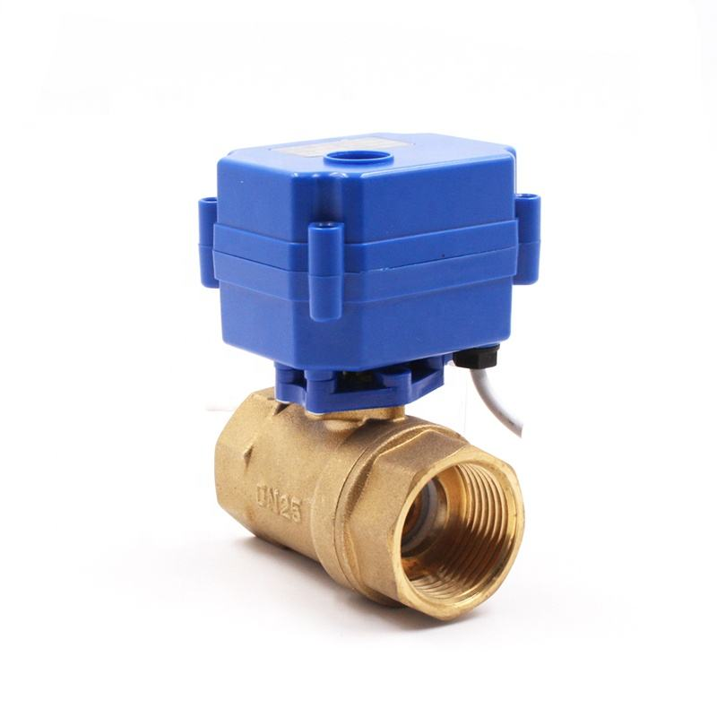 "Trade Assurance Supplier CWX-15 1"" DC12V brass electric ball valve for garden, agriculture equipment"