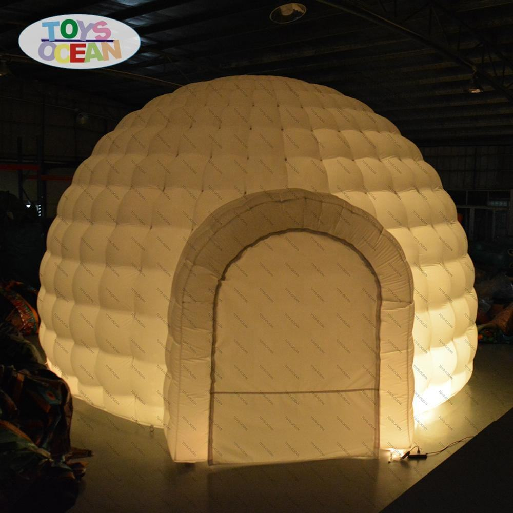 customized Inflatable Igloo with led inflatable tent lighting dome tent for party