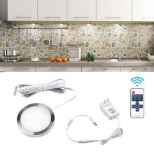 Kitchen Lighting 12VDC 2.5w spot led cabinet lamp puck lighting with remote control