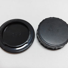 NP3212 Set of Professional Rear Lens Cap + Camera Body Cap for Contax/Yashica C-Y, CY,YC