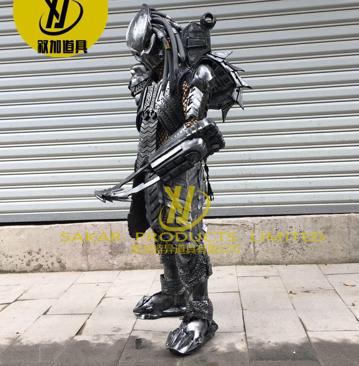 Handmade Craft Predator LED light Robot Costume Cosplay