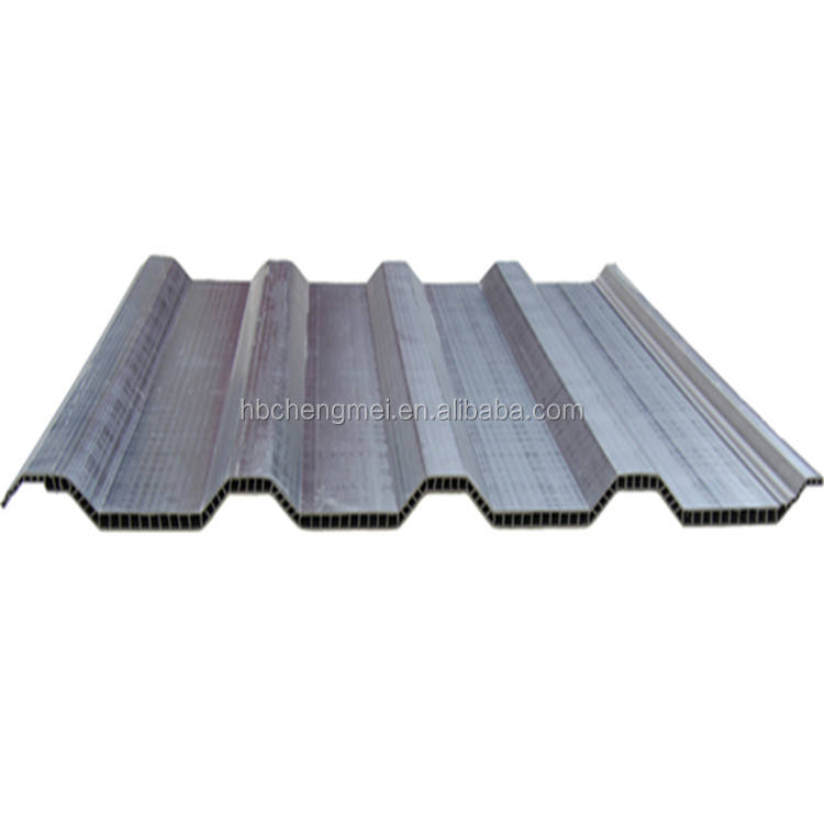 Colourful pvc hollow corrugated upvc roof sheet for chemistry factory