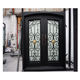 Made in China exterior metal double entrance doors wrought iron front door