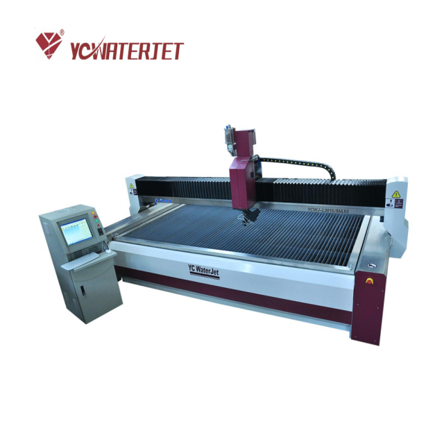 YC Waterjet cutting machines prices, bevel cutting 45 degrees