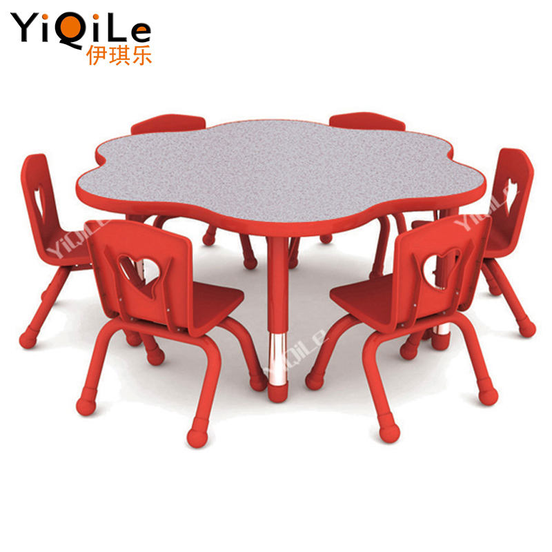 Blooming Shape Kids Kindergarten Chairs and Tables Daycare Center Furniture