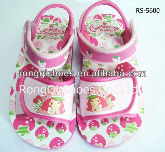 retail cute kid's fancy eva non-slip sandals