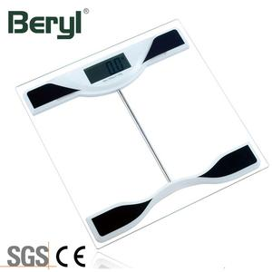 Hot Selling 180kg Electronic Transparent Glass 6mm Digital Bathroom Scale With LCD Display