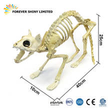 Practical Jokes Fake Novelty Model Kitty Toy Animal Halloween Plastic Movable Skeleton Cat Figurine