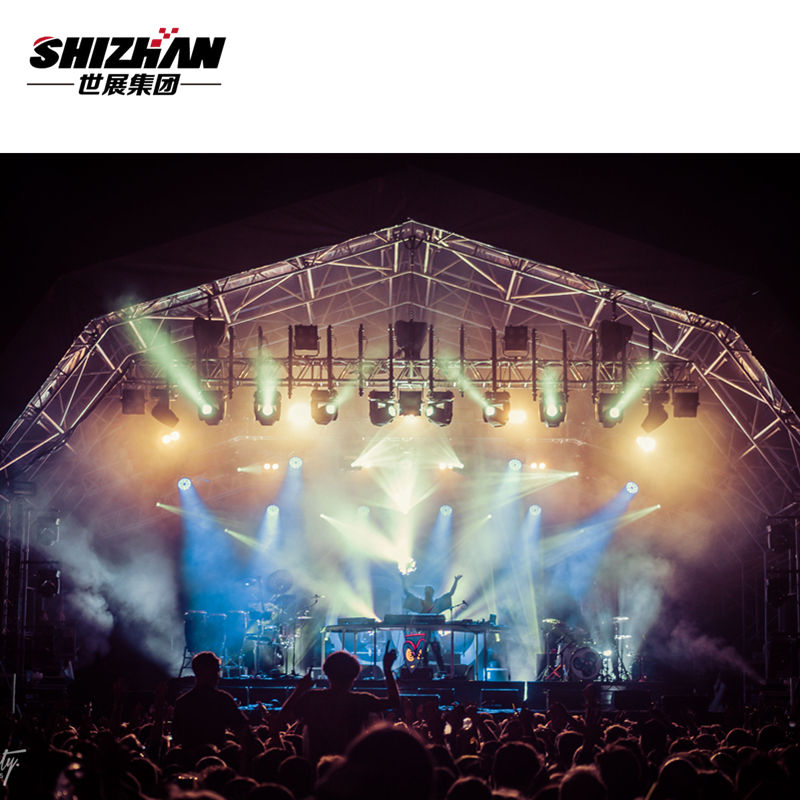 Small concert stage lift tower round rotating aluminum lighting truss