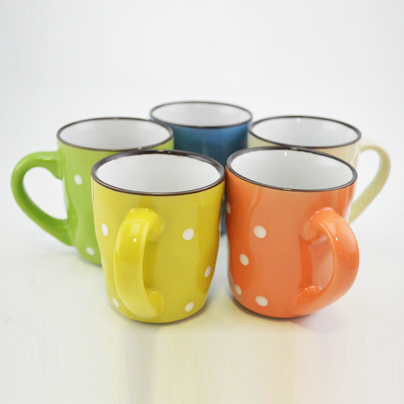 2019 Pakistan Indonesia Keramik Glazed Dot Mug Cup