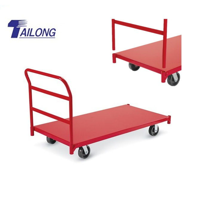 Metal Heavy Duty Platform Truck/Industrail Steel Platform Cart/Folding Hand Trolley