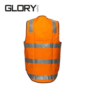 Outdoor protective workwear construction worker reflective road safety vest