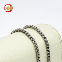 High quality All Kinds of Sizes Box Chain Decorative Handbag Chain Metal Brass Iron Chains for Bags