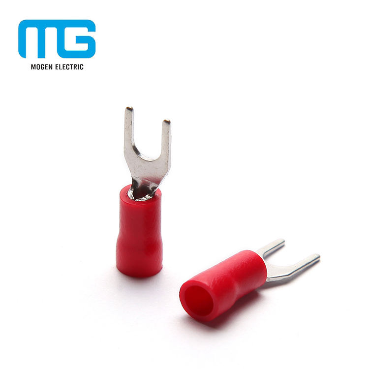 Pvc Insulated Electrical Crimp Ring Type Butt Connector Solderless Ground Ring Terminal Lug