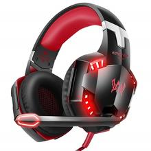 Free Sample  Kotion Each G2000 Headset Gaming Headphones Earphones with Cool LED for PS4