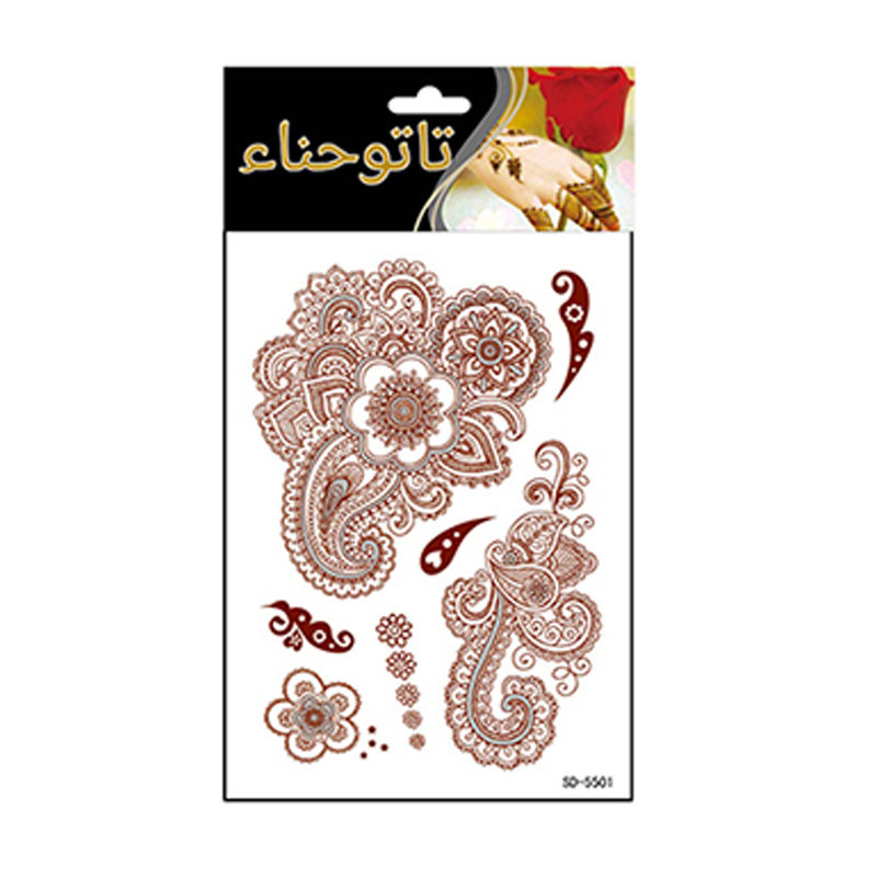 SD series 1-36 henna tattoo sticker temporary brown henna hand tattoo sticker