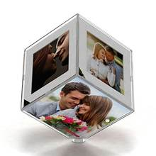APF034 Clear Acrylic Cube Wedding Photo/Picture Frame