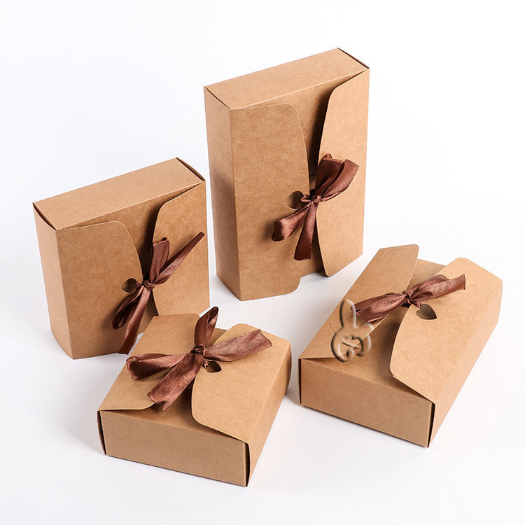 Kraft Paper Custom Gift Packaging Box Craft Package For Handmade Soap/Candy Product Box