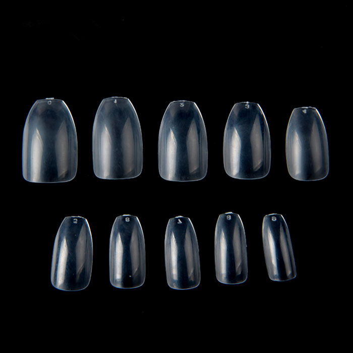 TSZS Factory Wholesale 500 pcs Coffin Short Transparent Nail Tips Full Cover ABS False Nails Artificial Nail Tips