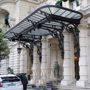 Wrought iron Awning canopy with shade