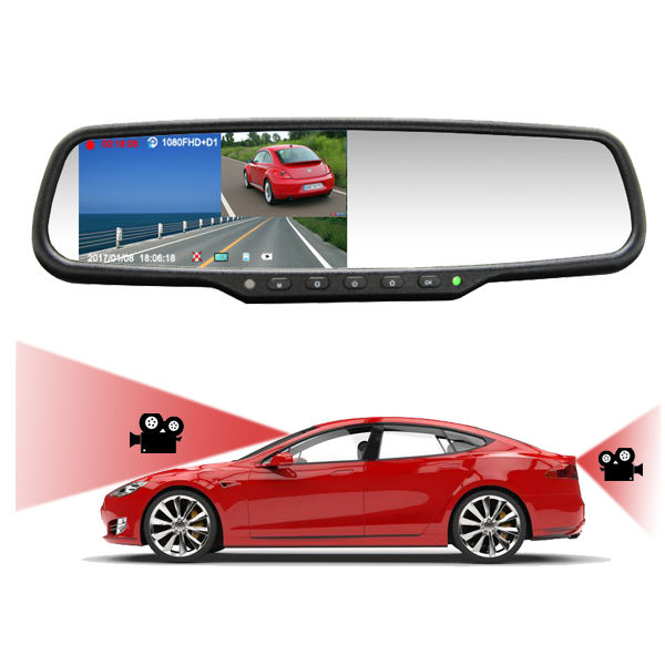 On Sale!!1080P Dual Camera Recording Car Rear View Mirror DVR Firmware