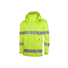 100% Polyester Pongee Waterproof Safety Raincoat Reflective Raincoat