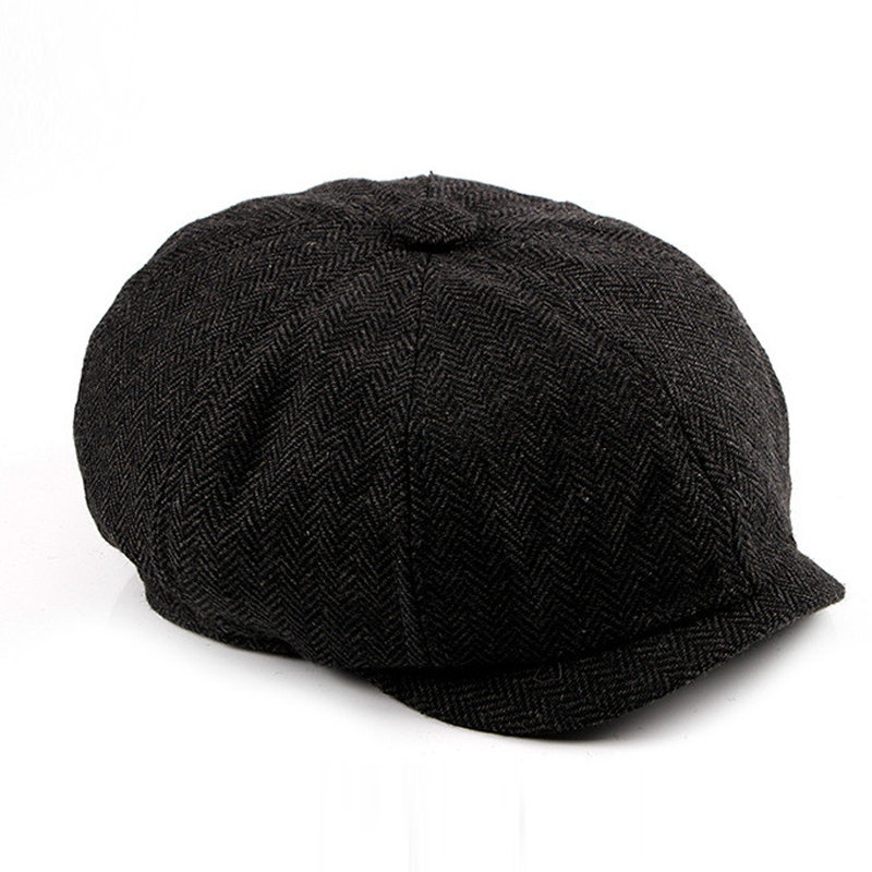 China suppliers winter wool peaky blinders hat flat cap for men cowboy newsboy hat ivy cap