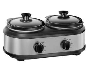 Double slow cooker with 2*1.25 Quart