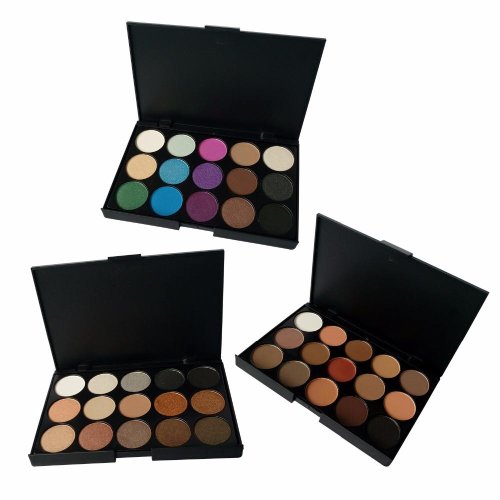 High Quality Private Label No Logo Pigment 3 Group 15 Color Eyeshadow Palette