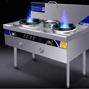 2 Hornillo de gas de acero inoxidable con 1 manguera de gas y regulador de presi/ón 50 mbar. 3 o 4 llamas