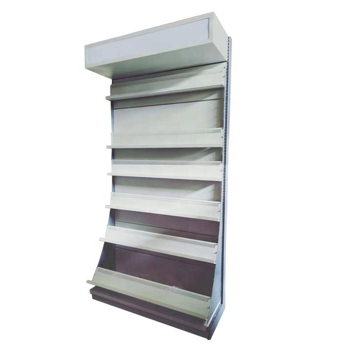 Customized Metal Supermarket Book CD Video Display Shelf
