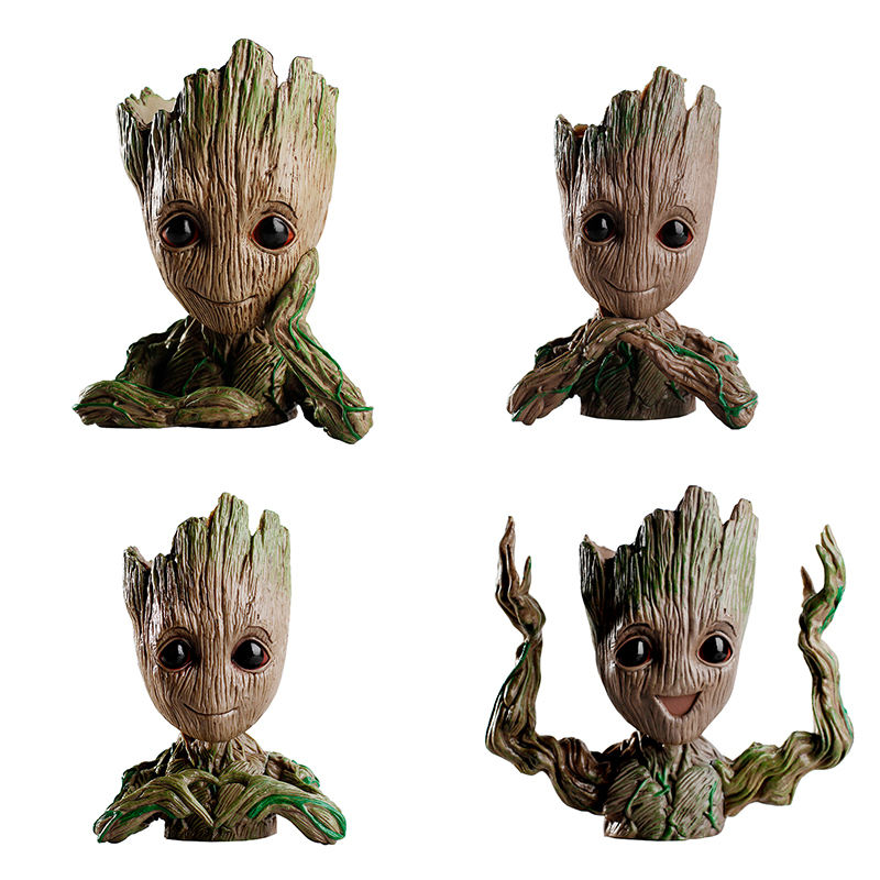 Stock Tree Man Pen Flower Pot The Galaxy Flowerpot Baby Groot