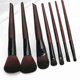 2018 New Products 7pcs set wooden handle comfortable makeup brush