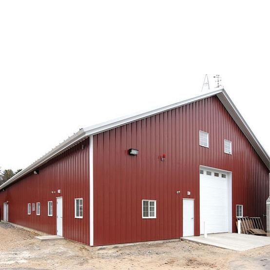 Large Space Steel Structure Building for Pole Barns